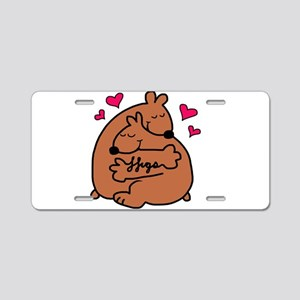 bear hugs Aluminum License Plate