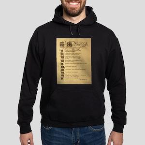 ten commandments Hoodie (dark)