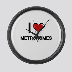 I Love Metronomes Large Wall Clock