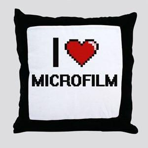 I Love Microfilm Throw Pillow