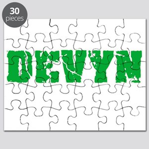 Devyn Name Weathered Green Design Puzzle