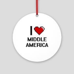 I Love Middle America Ornament (Round)