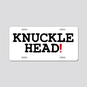KNUCKLEHEAD! Aluminum License Plate