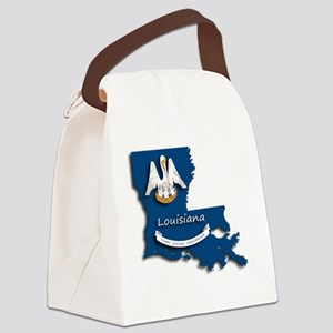 Louisiana State Pelican Flag Canvas Lunch Bag