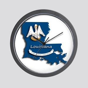 Louisiana State Pelican Flag Wall Clock