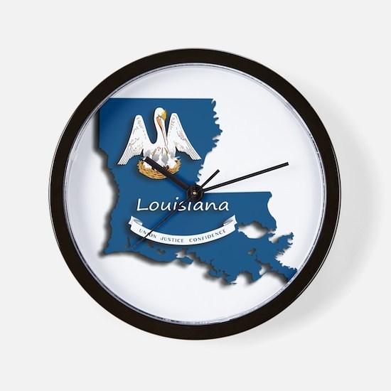 Louisiana State Pelican Flag Wall Clock