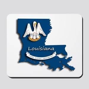 Louisiana State Pelican Flag Mousepad