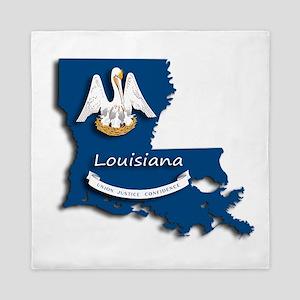 Louisiana State Pelican Flag Queen Duvet
