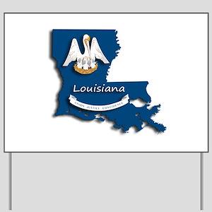 Louisiana State Pelican Flag Yard Sign