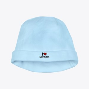 I Love Midwinter baby hat