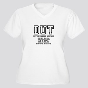 AIRPORT CODES - DUT, DUTCH HARBO Plus Size T-Shirt