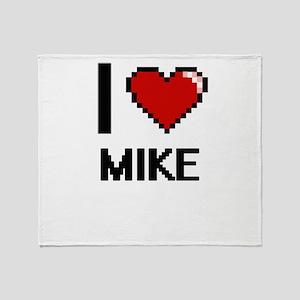 I Love Mike Throw Blanket