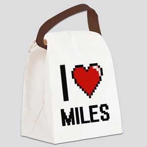 I Love Miles Canvas Lunch Bag