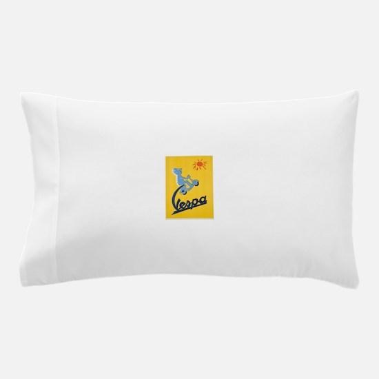 Vintage Vespa Pillow Case