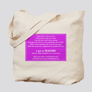 I will find you Do Your Homework Tote Bag