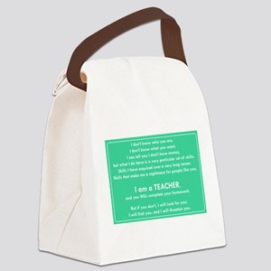 I will find you Do Your Homework Canvas Lunch Bag