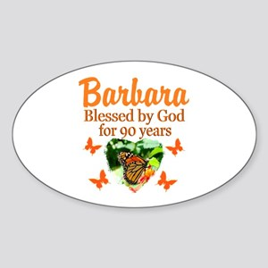 GLORIOUS 90TH Sticker (Oval)