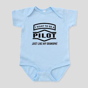 Pilot Just Like My Grandpa Body Suit