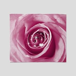 trendy bling on rose pink Throw Blanket