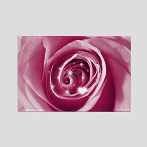 trendy bling on rose pink Magnets