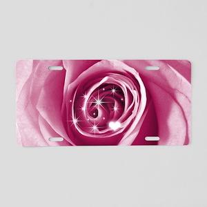 trendy bling on rose pink Aluminum License Plate