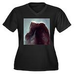 Horse Head Nebula Women's Plus Size V-Neck Dark T-