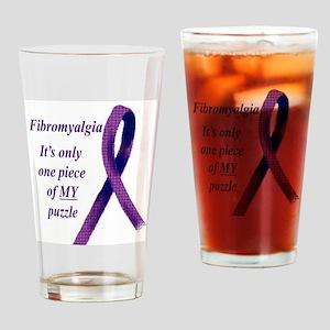 The Fibromite Purple2dotcom Drinking Glass