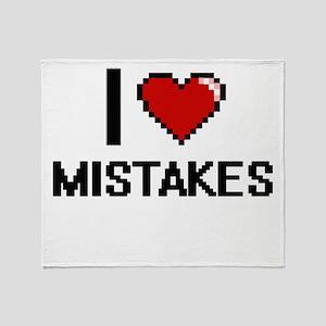 I Love Mistakes Throw Blanket