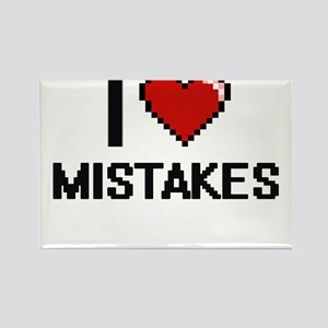 I Love Mistakes Magnets