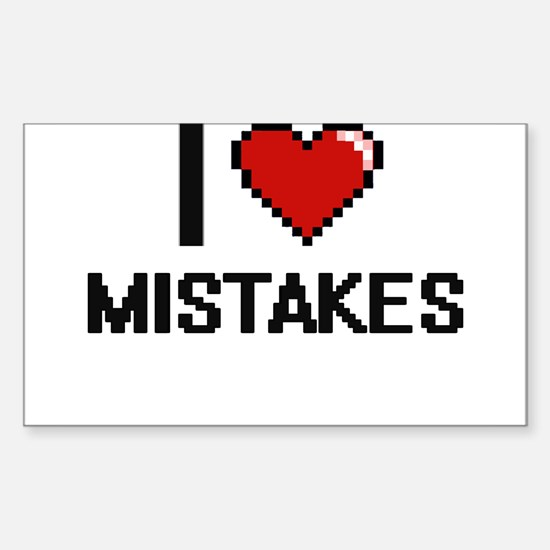 I Love Mistakes Decal