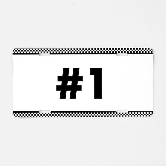 Custom Race Number Aluminum License Plate