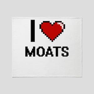 I Love Moats Throw Blanket