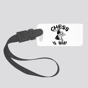 Chess Is War Small Luggage Tag