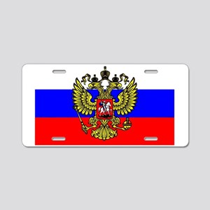 Flag of Russia - Trikolor Aluminum License Plate