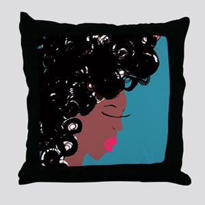 Curlz II Throw Pillow