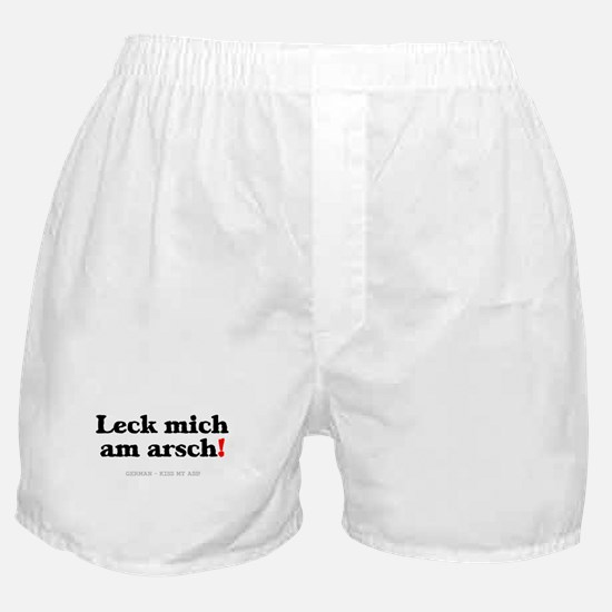 GERMAN - KISS MY ASS! Boxer Shorts