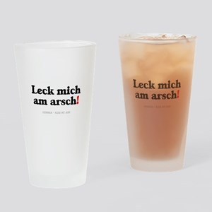 GERMAN - KISS MY ASS! Drinking Glass