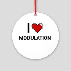 I Love Modulation Round Ornament