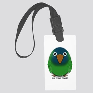 Blue Crown Conure Large Luggage Tag