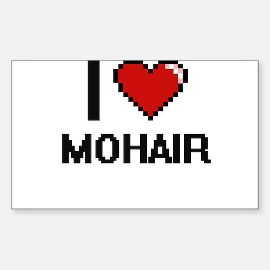 I Love Mohair Decal