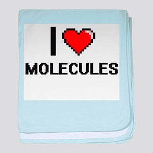 I Love Molecules baby blanket
