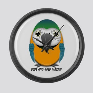 Blue and Gold Macaw Large Wall Clock