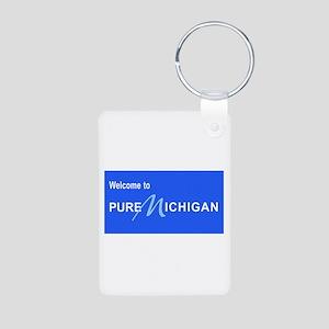 Welcome to Pure Michigan Aluminum Photo Keychain