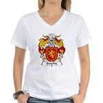 Sanchiz Family Crest Women's V-Neck T-Shirt