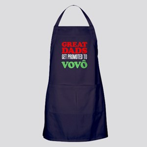 Great Dads Promoted Vovo (Grandpa) Apron (dark)