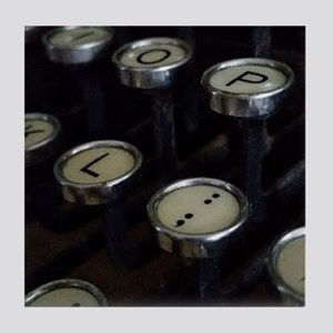 Vintage Typewriter Keys Tile Coaster