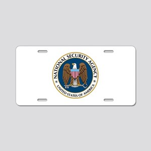 NSA - NATIONAL SECURITY AGE Aluminum License Plate