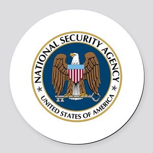 NSA - NATIONAL SECURITY AGENCY Round Car Magnet