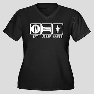 eat sleep Plus Size T-Shirt