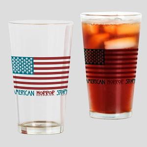 American Horror Story Flag Drinking Glass